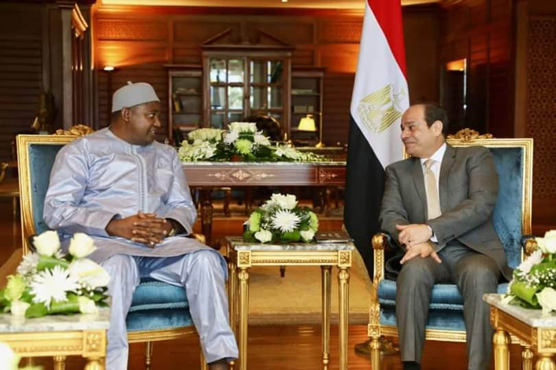 President Barrow and Al-Sisi of Egypt